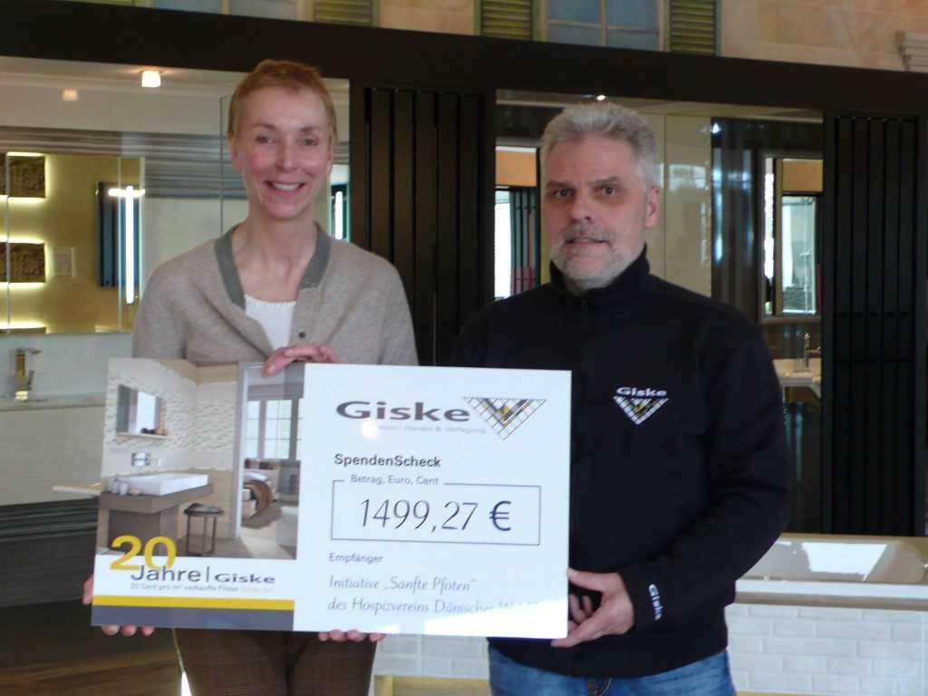 Spenden-Scheck Giske Fliesen&Bäder2