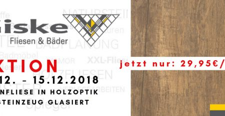 AKTION Bodenfliese in Holzoptik