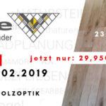 Sonderverkauf Bodenfliese in Holzoptik