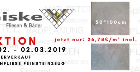 Angebot Bodenfliese in Betonoptik 18.02-02.03